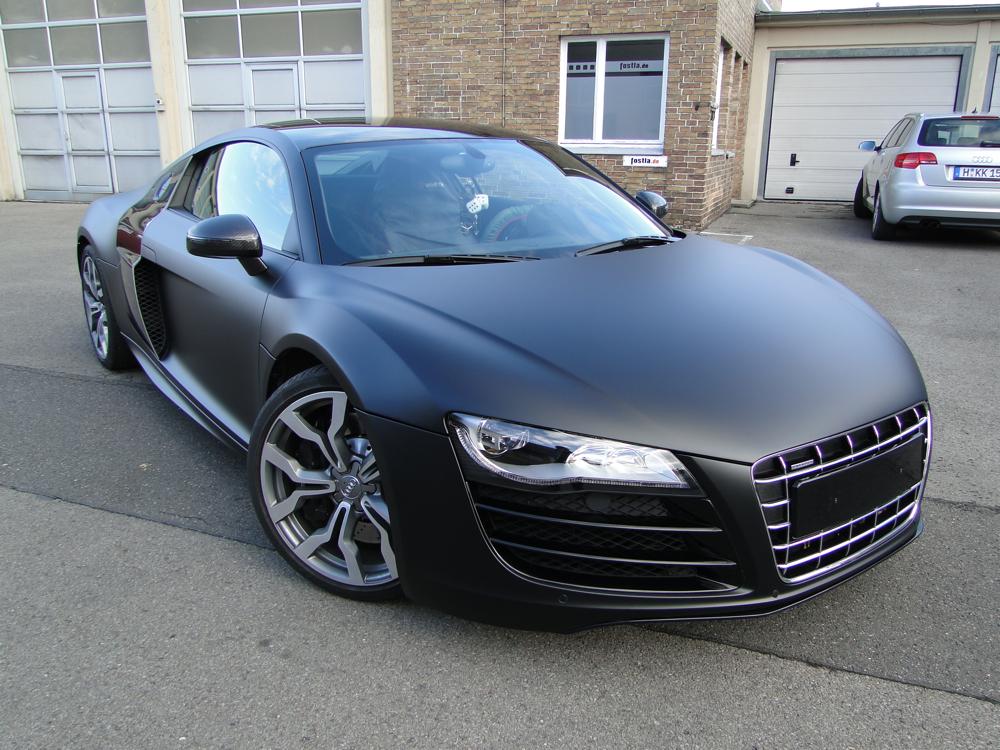 Audi r8 v10 schwarz matt for Ka che schwarz matt